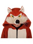 Wild Red Fox Child Hoodie: Rust/Ivory hooded Jacjet, child sizes